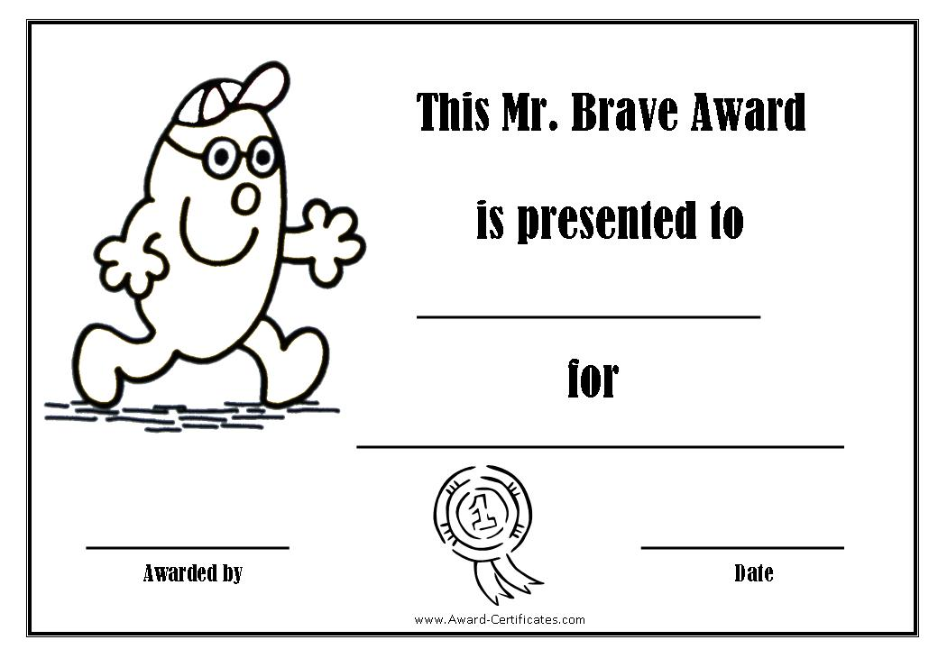 Bravery certificate template gallery avery business card for Bravery certificate template